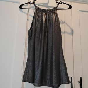 Cache Metallic Top NWT